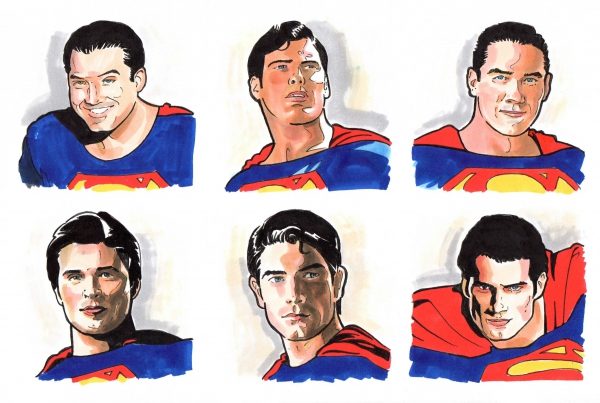 Henry Cavill Brandon Routh Tom Welling Dean Cain Christopher Reeve George